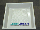 580 x 580 x 120  DEEP TRAY WHITE